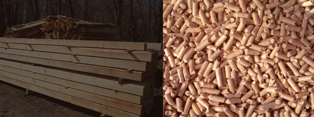 toute l,'année la scierie Labattut vend des granulés de bois